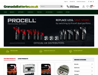 granadabatteries.co.uk screenshot