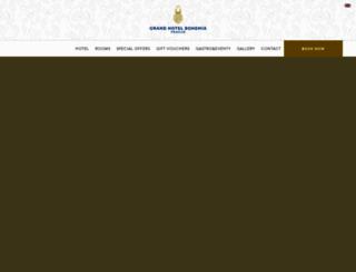 grandhotelbohemia.cz screenshot