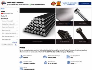 grandmetalcorp.com screenshot