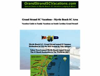 grandstrandscvacations.com screenshot