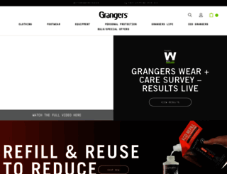 grangers.co.uk screenshot