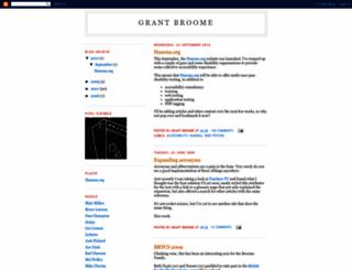 grantbroome.blogspot.com screenshot