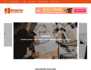 granty-na-badania.com screenshot
