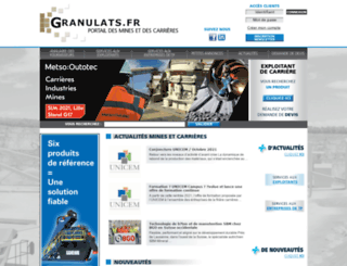 granulats.fr screenshot