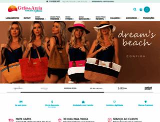 graodeareiamodapraia.com.br screenshot
