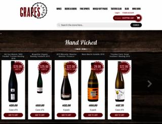 grapesandlager.com.au screenshot