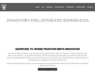 grapevineeconomicdevelopment.com screenshot