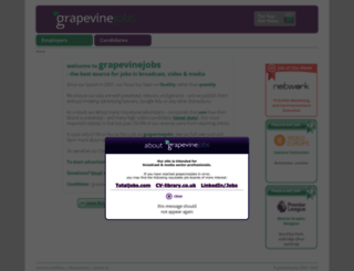 grapevinejobs.co.uk screenshot