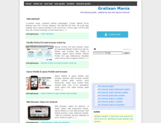 gratisan-mania.blogspot.com screenshot