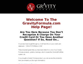 gravityformula.com screenshot