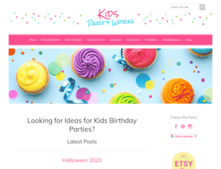 great-kids-birthday-parties.com screenshot