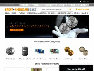 greatamericancoincompany.com screenshot