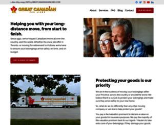 greatcanadianvanlines.com screenshot