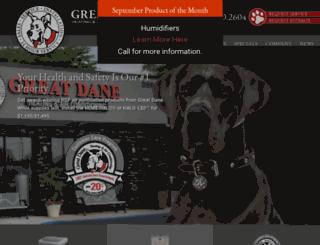 greatdanehvac.com screenshot