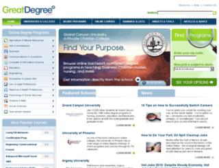greatdegree.com screenshot