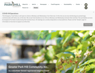 greaterparkhill.org screenshot