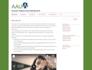 greaterwaynearea-nj.aauw.net screenshot