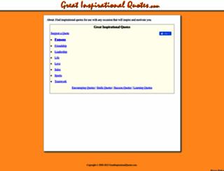 greatinspirationalquotes.com screenshot