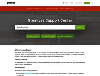 greatives.ticksy.com screenshot