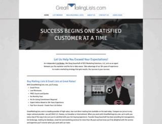 greatmailinglists.com screenshot