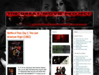 greatmovieproject.wordpress.com screenshot