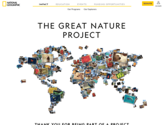 greatnatureproject.org screenshot