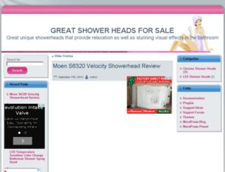 greatshowerheadsforsale.com screenshot