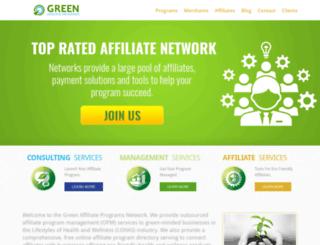 greenaffiliateprograms.net screenshot