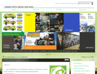 greenarts.com.my screenshot