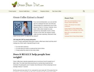 greenbeandiet.com screenshot