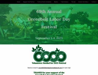 greenbeltlaborday.com screenshot
