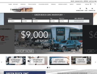 greenbuickgmc.com screenshot