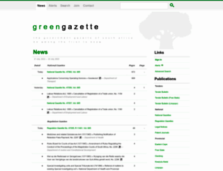 greengazette.co.za screenshot