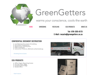 greengetters.co.za screenshot