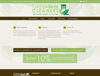 greenleaf-cleaners.ca screenshot