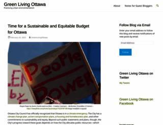 greenlivingottawa.com screenshot