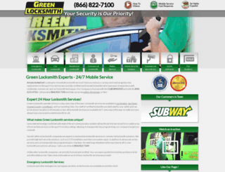 greenlocksmiths.com screenshot