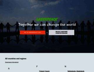 greenpeace.com screenshot