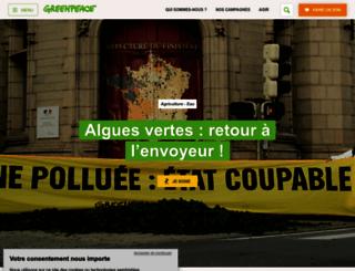 greenpeace.fr screenshot
