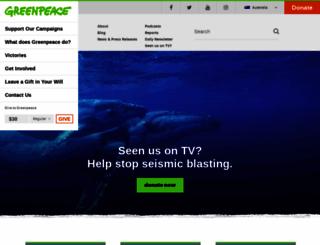 greenpeace.org.au screenshot