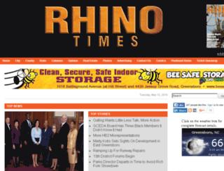 greensboro.rhinotimes.com screenshot