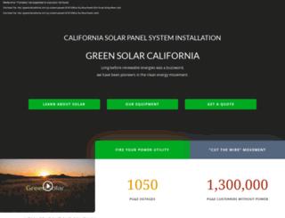 greensolarcalifornia.com screenshot