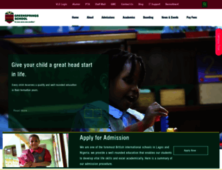 greenspringsschool.com screenshot