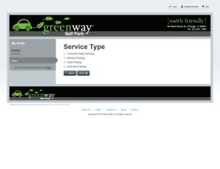 greenway.clickandpark.com screenshot