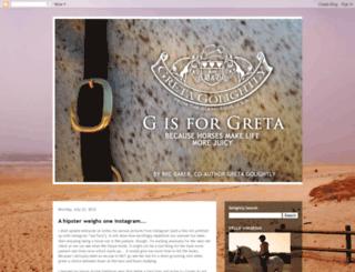 gretathehorse.blogspot.com screenshot
