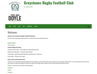 greystonesrfc.ie screenshot