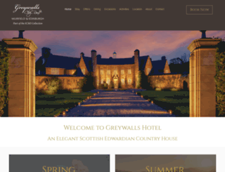 greywalls.co.uk screenshot