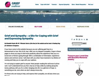griefandsympathy.com screenshot