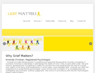 griefmatters.co.nz screenshot