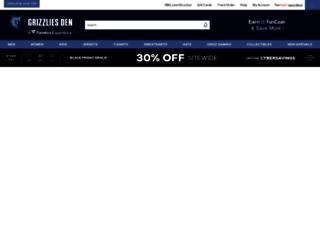 grizzliesstore.com screenshot